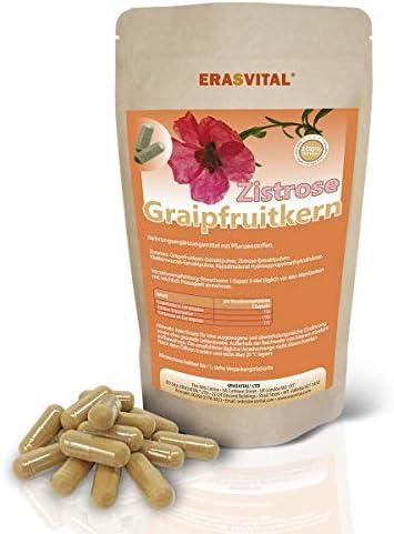Zistrose-Extraktpulver (Cistus incanus) I 90 Kapseln = 67g I MIT Grapefruitkern-Extraktpulver (Bioflavonoide), Klettenwurzel-Extraktpulver (Arctikum Lappa). Hergestellt in Deutschland. Vegan.