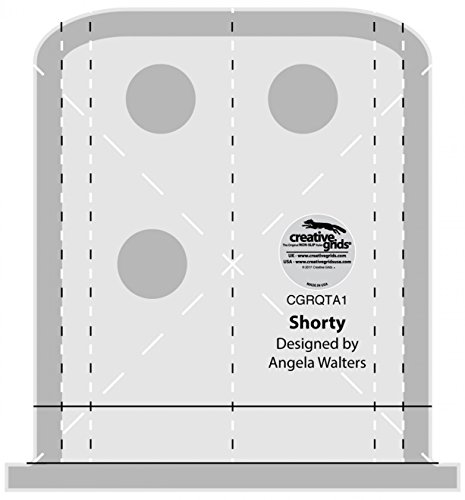Creative Grids Machine Quilting Tool Ruler Template - Shorty CGRQTA1 by Creative Grids