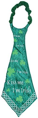 [New St Patricks Day Jumbo Kiss Me I'm Irish Neck Tie] (Kiss Me Im Irish Costume)