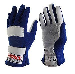 (G-Force 4101XSMBU G5 Blue X-Small Junior Racing Gloves)