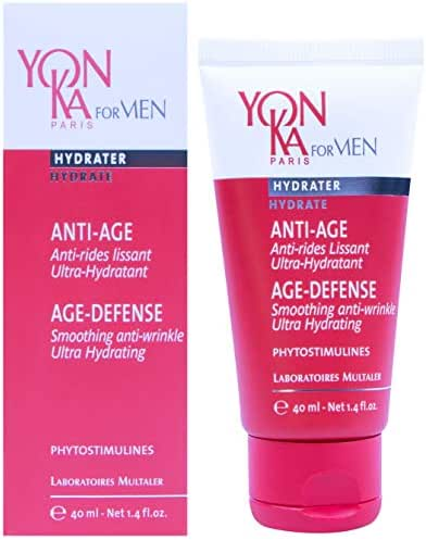 Yonka For Men Age-Defense Line Prevention, Ultra-Hydrating (1.72 Ounce / 50 Milliliter) - Ultra-Moisturizing Anti-Aging Gel-Cream Designed For Men That Delays the Effects of Aging