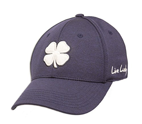 Black Clover Lucky Heather Navy Fitted Hat (Small/Medium)