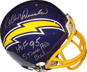 Athlon CTBL-017874 Kellen Winslow Signed San Diego Chargers TB Mini Helmet Dual HOF 95 & 5 Time Pro (Autographed Hof Pro Helmet)