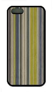 iPhone 5S Case,Colored Wood TPU Custom iPhone 5/5S Case Cover Black
