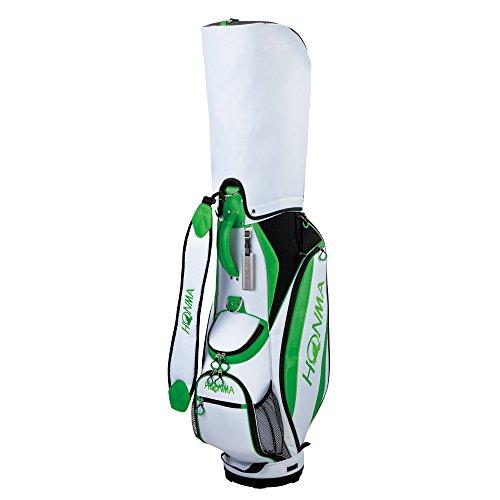 期待して絞る構想する本間ゴルフ キャディーバッグ HONMA CB-1732 メンズ ホワイト/フレッシュグリーン