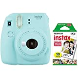 Fujifilm instax mini 9 Holiday Bundle (Ice Blue)