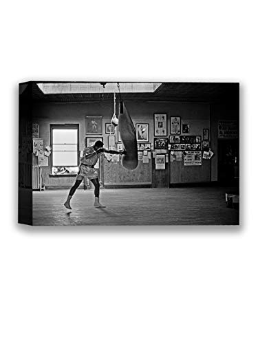 Funny Ugly Christmas Sweater Muhammad Ali Boxing Monochrome Photo Decor Sport Gym Muhammad Ali Canvas Prints Iconic Boxer Ali Art Ready to Hang Black and White Pictures 8