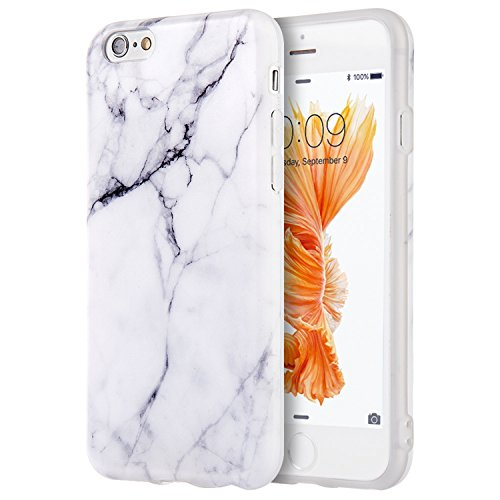 Candy Skin Case Cover - Compatible with iPhone 6S Case, Insten [Marble Pattern] Ultra Slim Lightwight Soft TPU Rubber Candy Skin Anti Slip Case Cover Compatible with Apple iPhone 6/ 6S (4.7