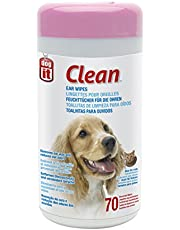 Dogit 70535 Clean Ear Wipes, 70 Unscented Wipes