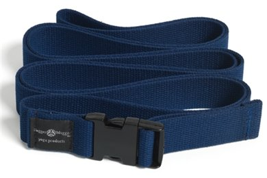 Hugger Mugger Quick Release Yoga Strap , Navy, 10'