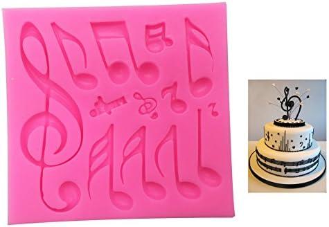 Fondant Eindruck Matte, Musical Note Textur Design Silikon Kuchen dekorieren Supplies für Cupcake Hochzeit Kuchen, Dekoration