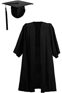 Ashington Gowns Fitted Academic Mortarboard with UK Style Tassel ... 16af645bef7