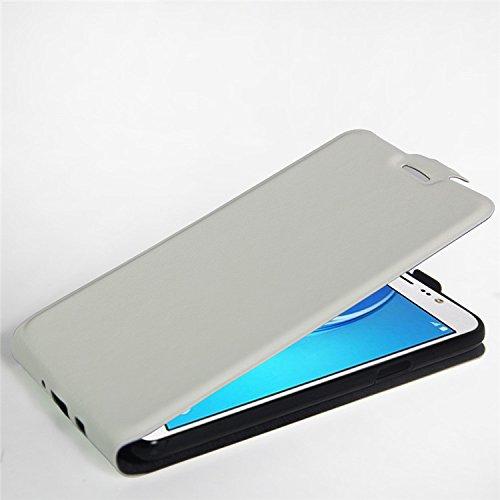 Qiaogle Teléfono Case - Funda de PU Cuero Billetera Clamshell Carcasa Cover para Samsung Galaxy Trend 2 Lite SM-G318H / SM-G313H - FC12 / Negro Moda Elegante estilo FC13 / Blanco Moda Elegante estilo