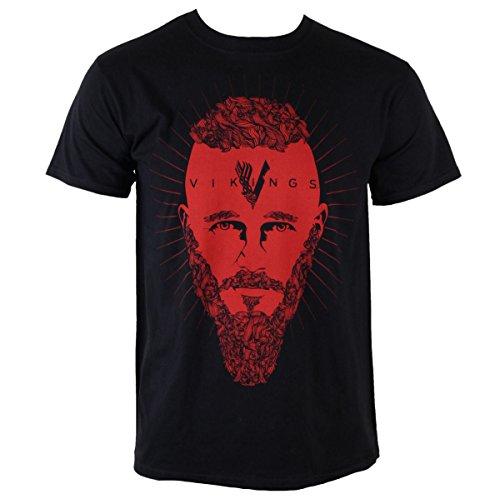 Herren T-Shirt Vikings - Ragnar Face - PLASTIC HEAD - PH9082 XL