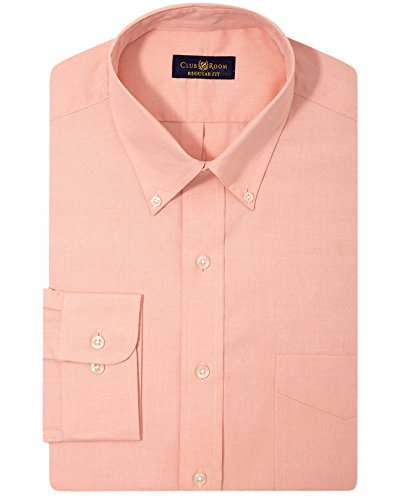 Club Room Men's Estate Wrinkle Resistant Regular-Fit Solid Pinpoint Dress Shirt (15.5