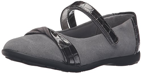 Jumping Jacks Girls' Twist Flat, Pewter Suede/Crocodile, for sale  Delivered anywhere in Canada