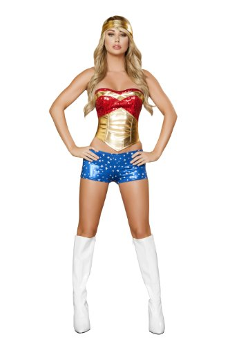 Roma Costume 4 Piece Wonder Heroine Costume,