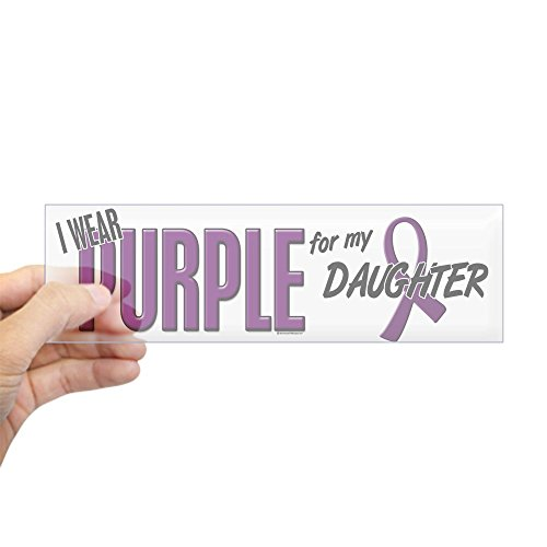 CafePress I Wear Purple for My Daughter 10 Bumper Sticker 10