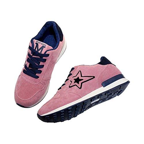 SODIAL 1 Paar Rosa Sportschuhe fuenfzackigen Stern Student Skid Schuhe Atmungsaktiv Freizeit Reisen Schuhe Wandern Schuhe US4.5 = EU35 Fusslaenge 225mm rosa 35