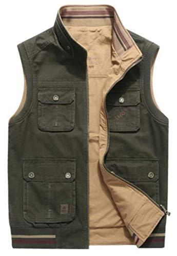 armeegrün 1 Gilets Classica Senza Chic Uomo Multi Wear Can Sided RBq6wAR