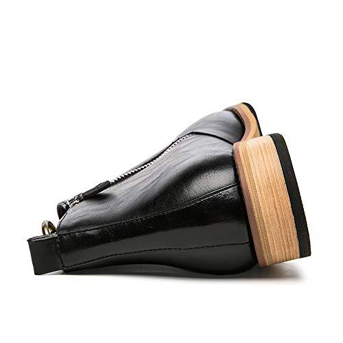 traspirante 24cm cerniera 3 stivaletti con Shoes Per del Casual Dimensione Nero marito padre 5 2 26 fidan Nero il Boots regalo Natale di Colore Business Martin EU Yishelle del centimetri 40 qwfIzt