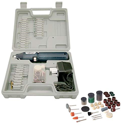 Cordless Rechargeable Mini Rotary Dremel Style Hobby Drill with 205 Accessories and Case Tooltime®