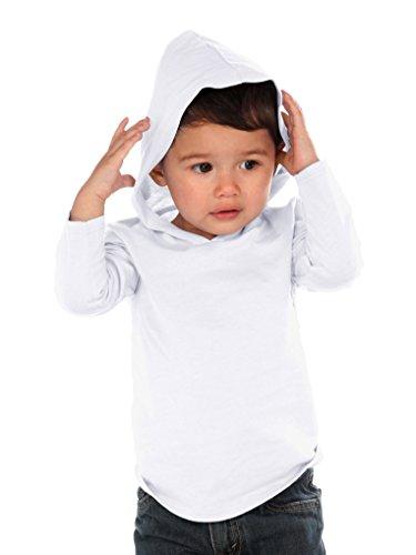 Kavio! Unisex Infants Long Sleeve Pullover Hoodie White 12M
