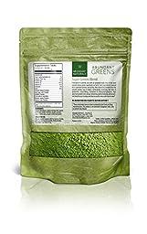 ABUNDANT SUPER GREENS | Green Superfood Drink Powder Smoothie Mix - Boost Energy & Vitality, Vitamins, Minerals, Antioxidants, Probiotics, Pleasant Taste, Non-GMO, Raw Vegan Supplement, 38 Servings