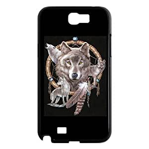 ALICASE Diy Design Back Case Wolf Dream Catcher for Samsung Galaxy Note 2 N7100 [Pattern-1]