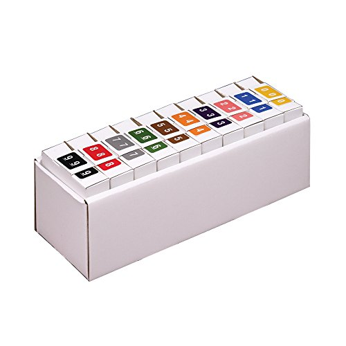 Smead DCCRN Numeric Color-Coded Numeric Labels, Numbers 0-9, Assorted Colors, 5000 Labels per Box (67350)