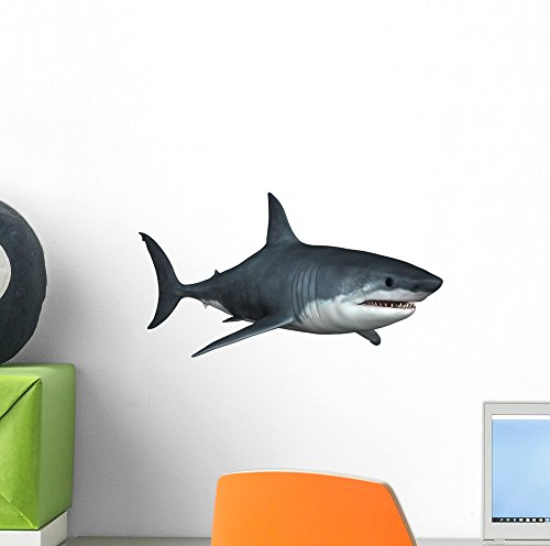 Cheap  Wallmonkeys Great White Shark Wall Decal Peel and Stick Animal Graphics (12..