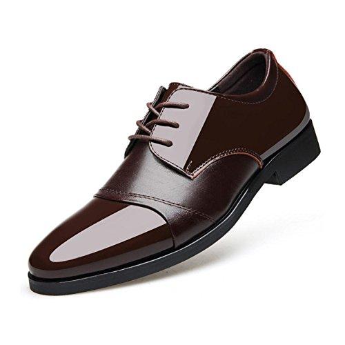 CAI Herren Formale Schuhe 2018 New Business Herren Lederschuhe/Kleid Schuhe/Spitzen Lace up/Hochzeit Schuhe/Office Work Schuhe (Farbe : Braun  Größe : 44) Braun