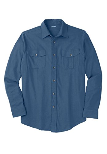 Kingsize Solid Double Brushed Flannel Shirt