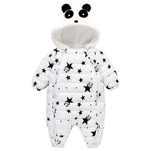 Mono de Nieve Beb/és Mameluco de Invierno Lindo Panda Pijama Peleles con Capucha