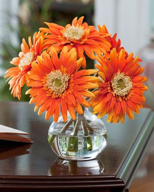 Gerbera Silk Flower Arrangement - (Gerbera Flower Arrangements)