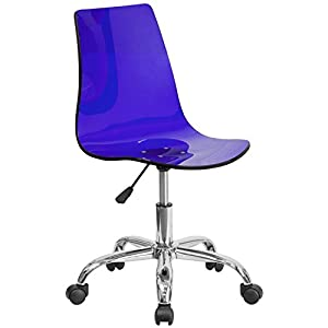 Flash Furniture Contemporary Transparent Acrylic Swivel Task Chair with Chrome Base
