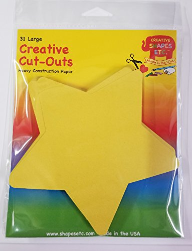 (Star Large Single Color Creative Cut-Outs, 5