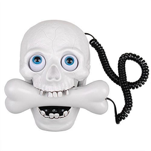 Amazon Com Halloween White Skull Led Eyes Designer Home Phone