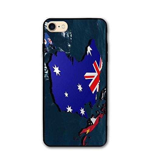 PC Material IPhone 7 Case/iPhone 8 Case 3d Australia Flag Map Print Pratical Scratch-proof Anti-Finger Case For IPhone 7/iPhone 8