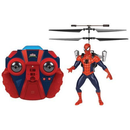 Marvel Ultimate Electric Powered Spider-Man LED Jetpack with 2 Channel IR RC Helicopter