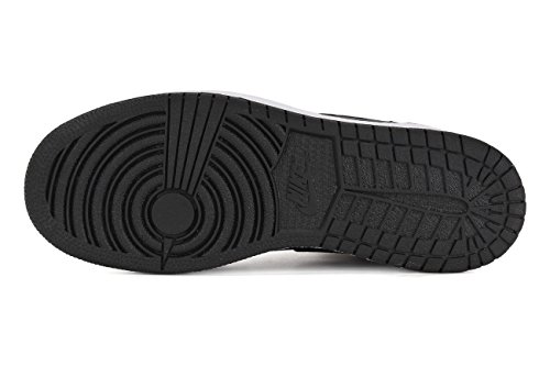 Nike Mens Air Jordan 1 Mitten Basket Sko Svart / Cement Grå / Antracit / Gym Röd