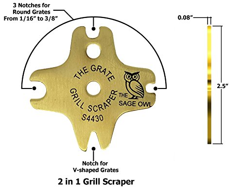 Safe Brass BBQ Grill Cleaner – These Heavy Duty Tools are Safer Than A Wire Brush – Functional Gifts for Men Who Have…