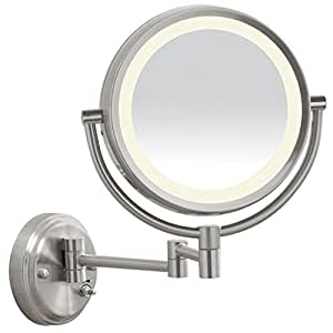 Amazon Com Conair Be6bled Reflections Led Brushed Nickel