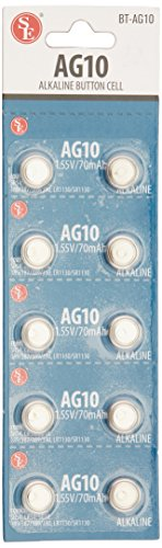 SE BT-AG10 Alkaline Batteries (10 Pack)