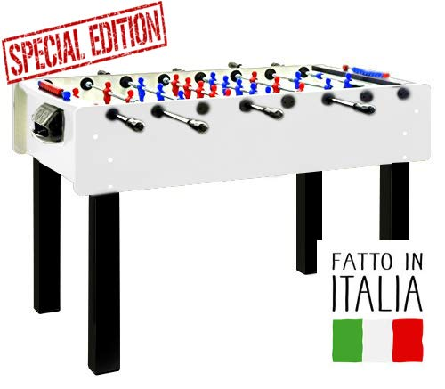 FAS Calciobalilla Stadium 2.0 Bianco Aste Passanti - Biliardino Special Edition