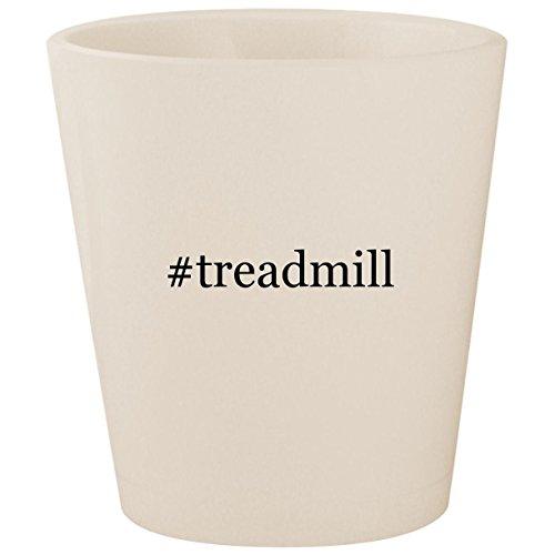 #treadmill - White Hashtag Ceramic 1.5oz Shot Glass