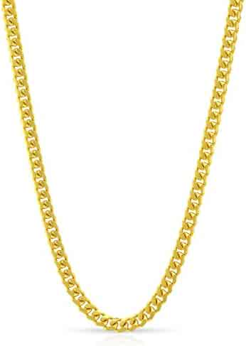 14K Yellow Gold 2.5mm Solid Miami Cuban Curb Link - Heavy-Duty - Thick Necklace Chain 16