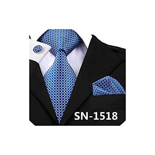 New Classic Silk Fabric Jacquard Woven Tie Cufflinks Set For Men Designer Fashion Silk Ties,Sn-1518