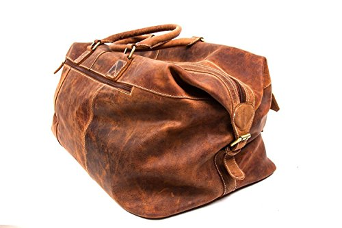 SIBASTONE Van More Reisetasche aus hochwertigem glatten Leder, Farbe:Braun;Material:Glattleder