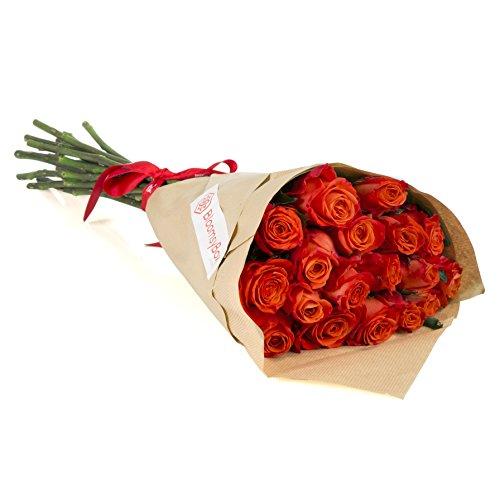 24 Long Stem Orange Rose Bouquet - No Vase by BloomsyBox